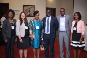 2017 GloCo Left to Right: Joyce Poku-Marboah, KooKoo Pa; Nira Desai, WCF; Hon. Otika Afisa Djaba, Ghana Minister of Gender, Children and Social Protection; Vincent Manu, WCF; Simon Nango, Cargill; Josephine Dadzie, WCF
