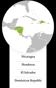 Dominican Republic, El Salvador, Honduras, Nicaragua