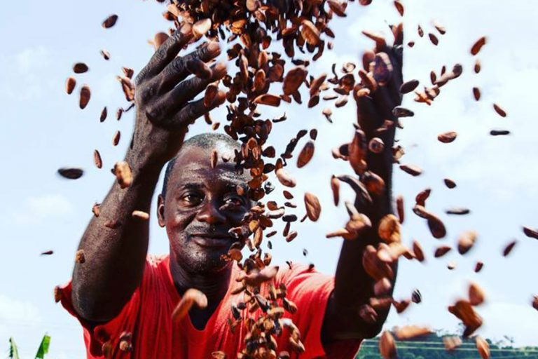 Ghana farmer drying beans | Photo: Mwangi Kirubi