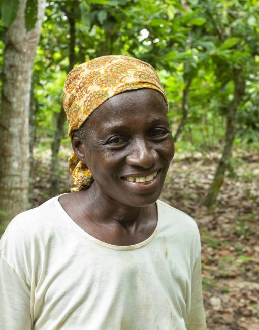 cocoa farmer Yao Ahou from Ndenou