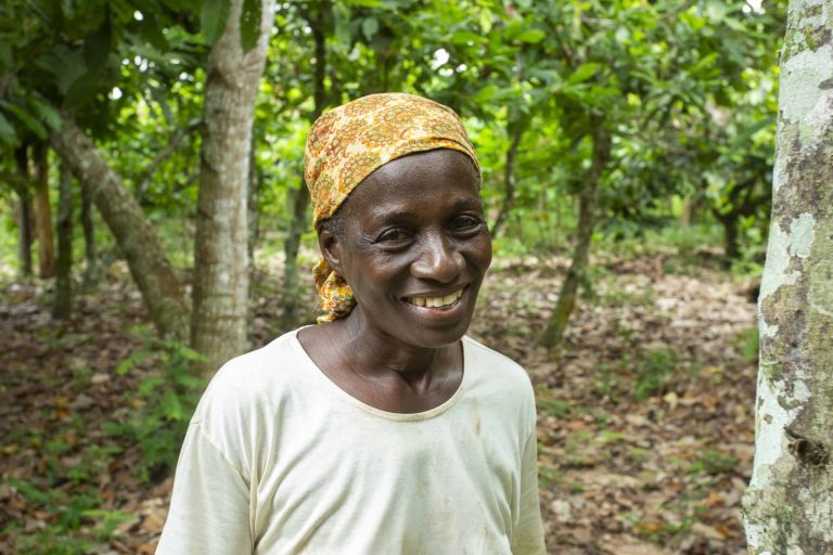 cocoa farmer Yao Ahou from Ndenou