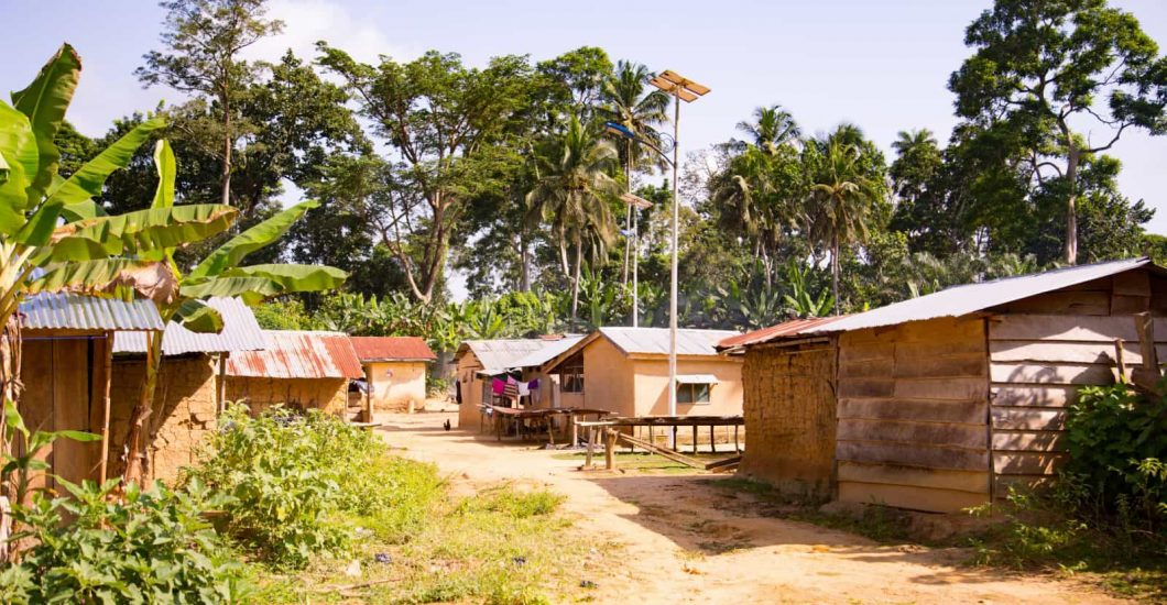 View of the cocoa farming village of Koforidua, Ashanti region, Ghana