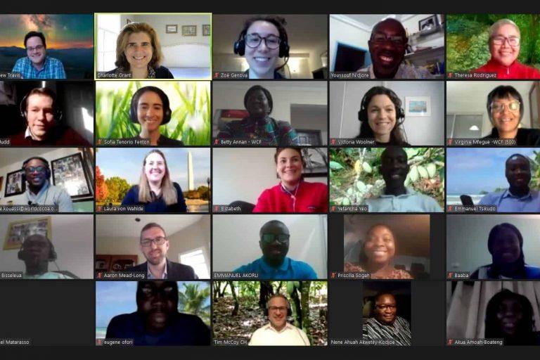 Sustainability, cocoa sustainability, Partnership meeting, online, sustainable cocoa, team