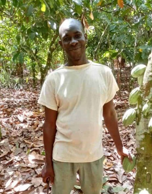 Sustainable cocoa farmer Ouedrago Salif in Cote d'Ivoire