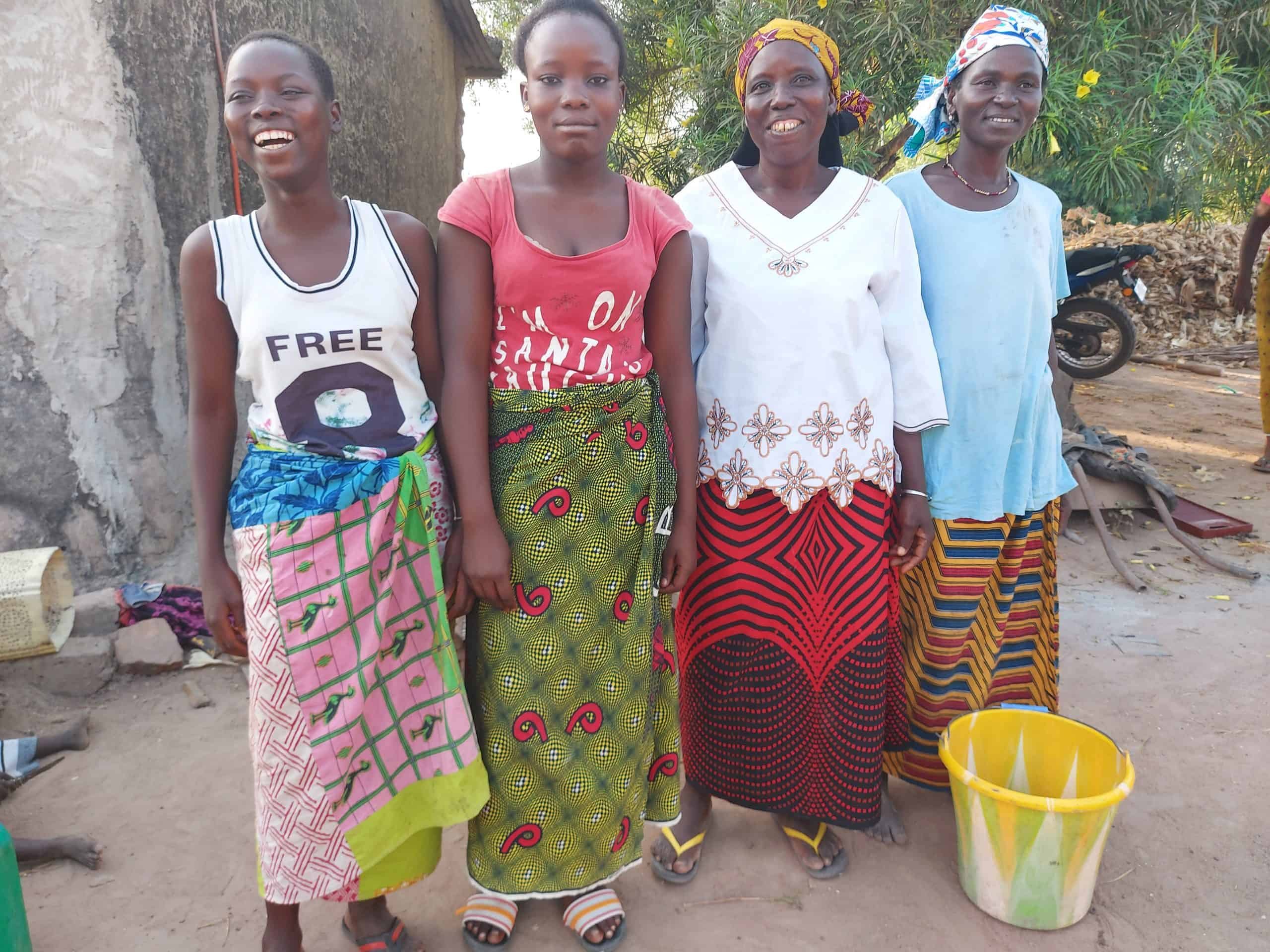 Four sustainable women cocoa farmers in Cote dIvoire
