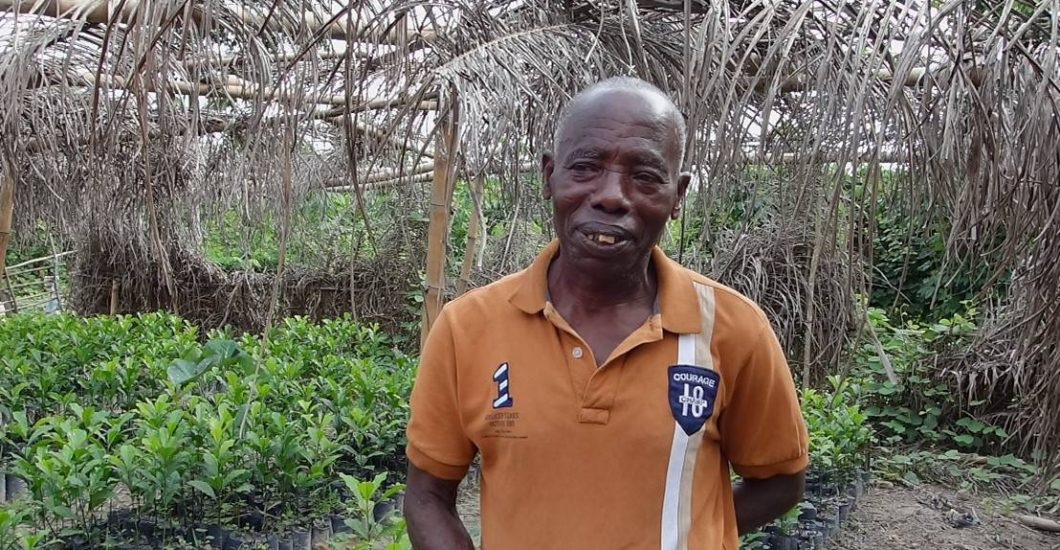 Headshot of sustainable cocoa farmer in Cote d'Ivoire Ekra Yao Blaise