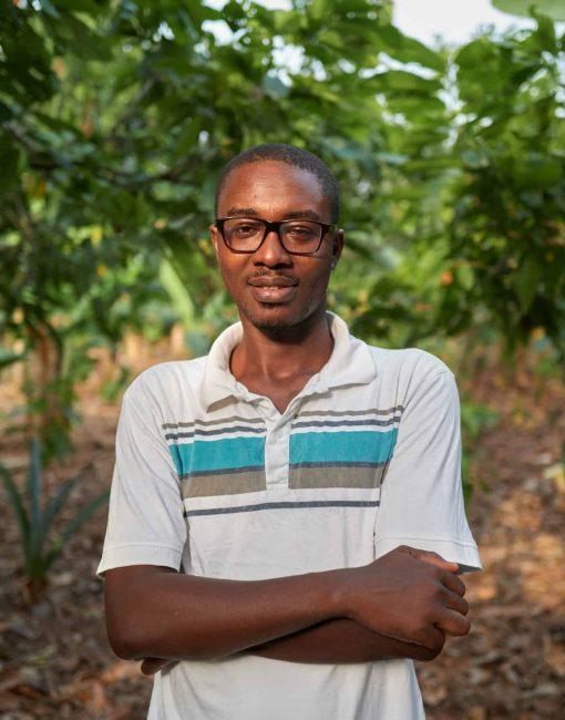 Photo of sustainable cocoa farmer Hamidu Isaka