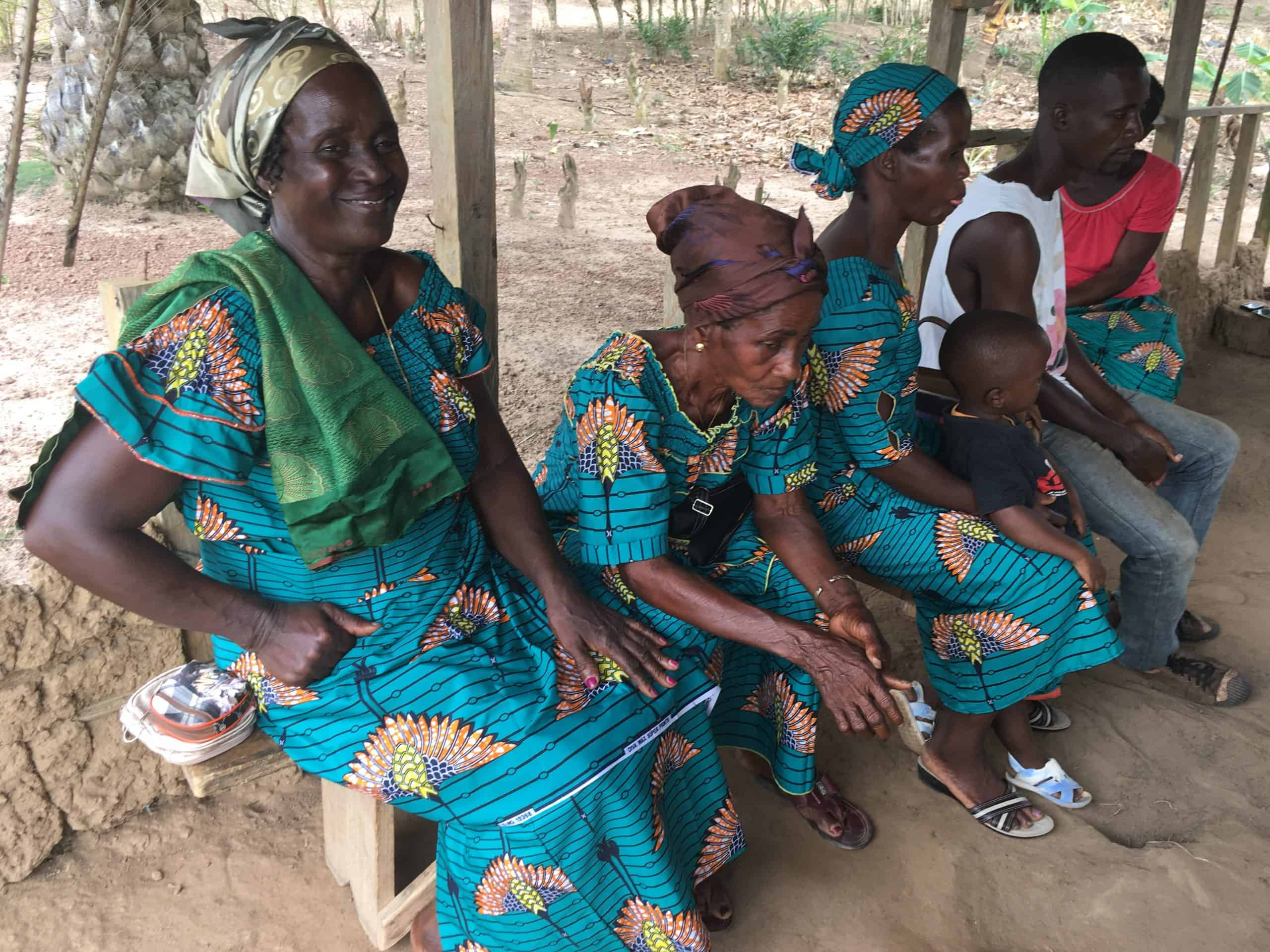 Sustainable women cocoa farmers part of a village savings and loan association in Cote d'Ivoire