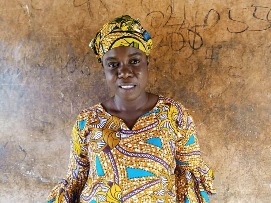 Esther Agbeko, cocoa farmer and VSLA member in Ghana