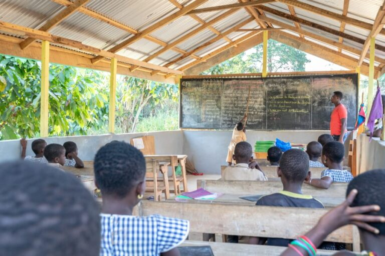 Classroom in sustainable cocoa growing community in Côte d'Ivoire