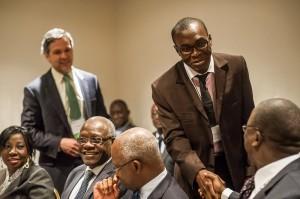 Dr. Louis Koko meets Jeannot Ahoussou Kouadio, Prime Minister of Côte d'Ivoire.