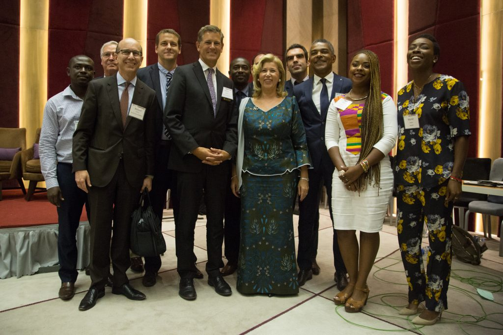 First Lady of Côte d'Ivoire and Innovators at the WCF Partnership Meeting in Abidjan