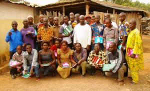 Farmer business training with GIZ at the Farmer Organization, ECOAD, in Divo, Côte d'Ivoire as part of the Olam Matching Grant project.