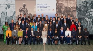 Leaders from African governments; Development Partners; and the Private Sector, including Anne Alonzo, WCF chairwoman, and Bill Guyton, WCF president, attend GrowAfrica Symposium.
