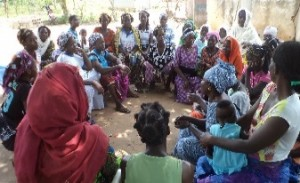 The Women's Group meets to plan their activities